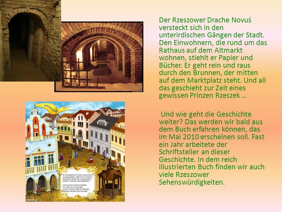 Der Rzeszower Drache Novuś versteckt sich in den unterirdischen Gängen der Stadt.