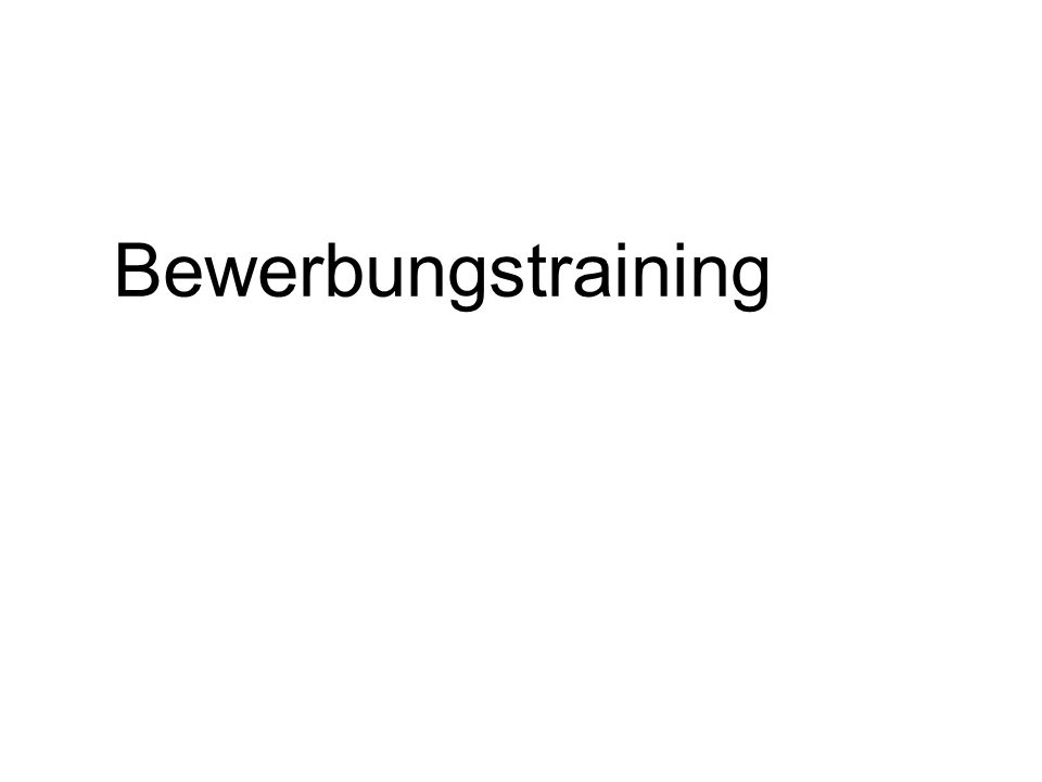 Bewerbungstraining