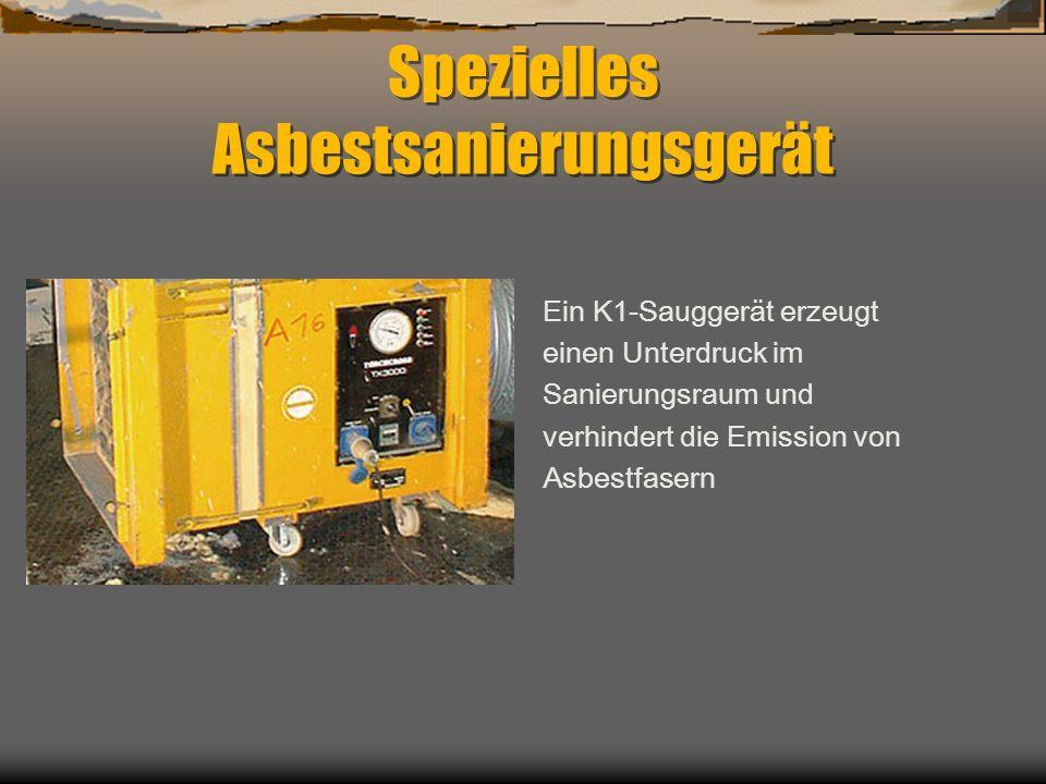 Spezielles Asbestsanierungsgerät