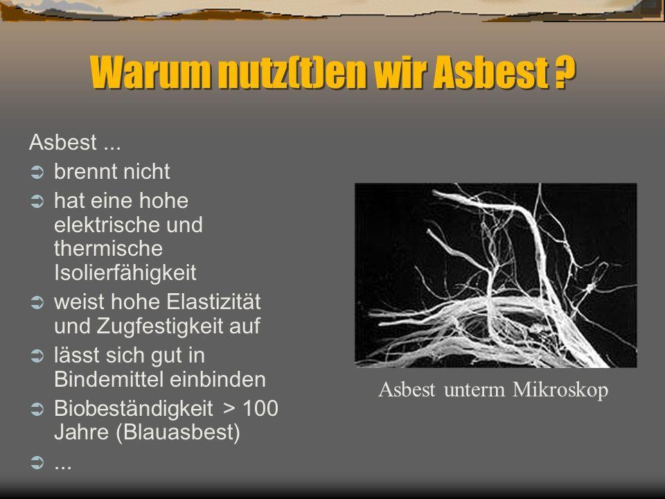 bis wann asbest