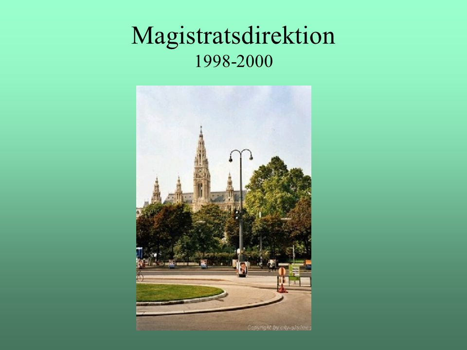 Magistratsdirektion 1998-2000