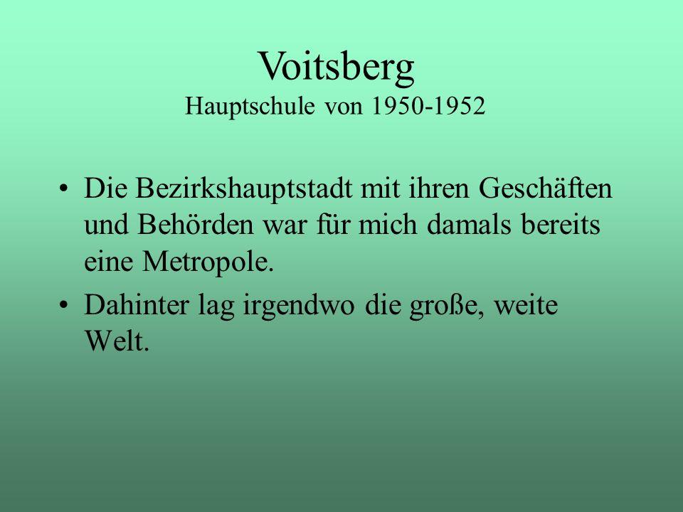 Voitsberg Hauptschule von 1950-1952