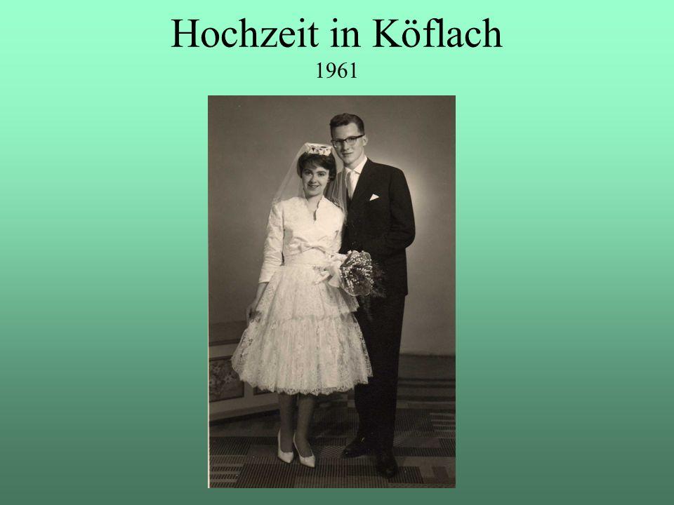 """Hochzeit in Köflach 1961 Mai 1961: Hochzeit in Köflach – der """"Lipizzanerstadt ."""