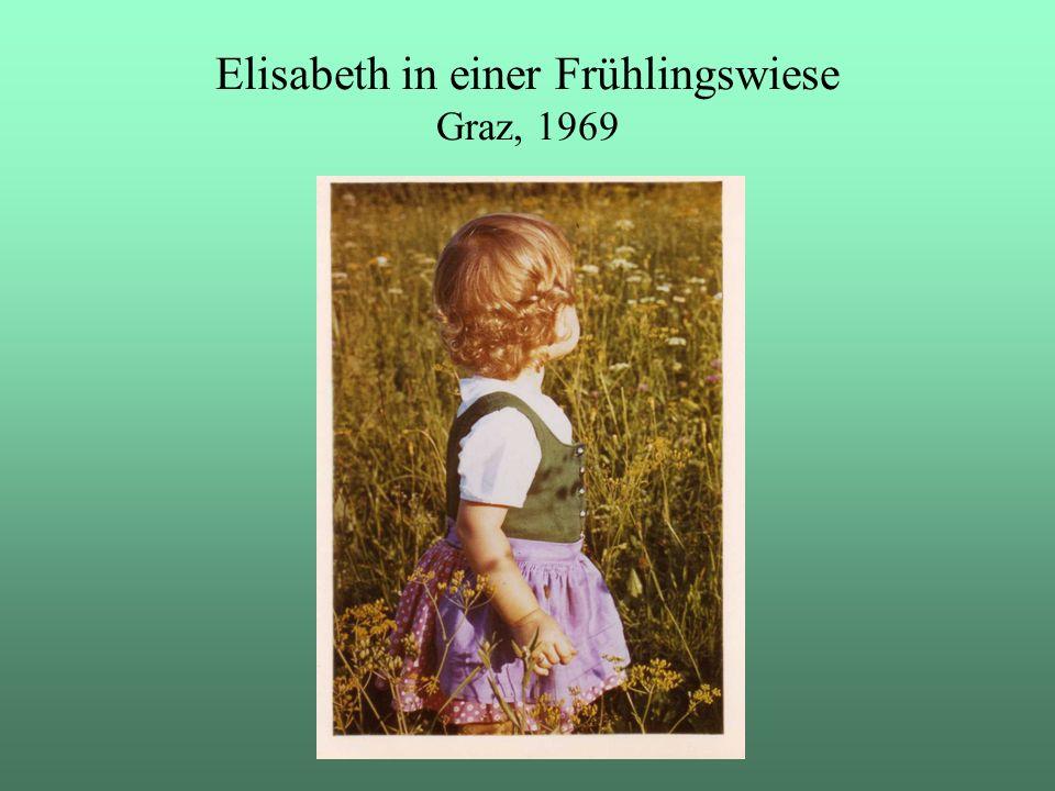 Elisabeth in einer Frühlingswiese Graz, 1969
