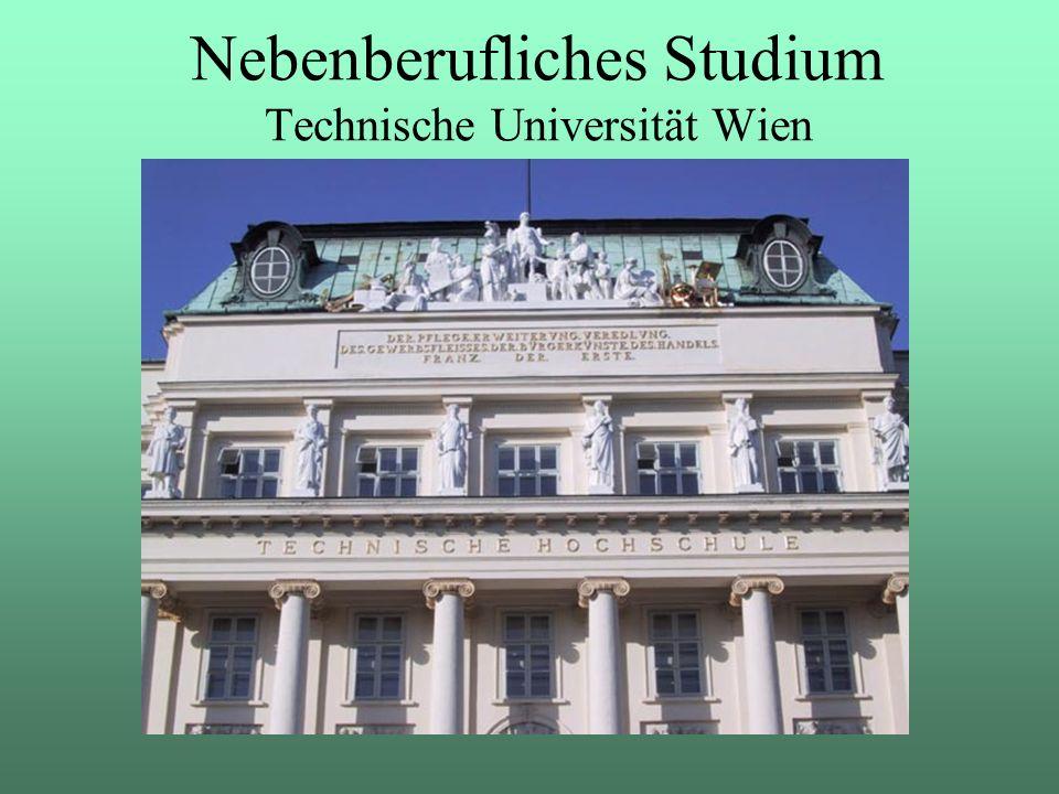 Nebenberufliches Studium Technische Universität Wien