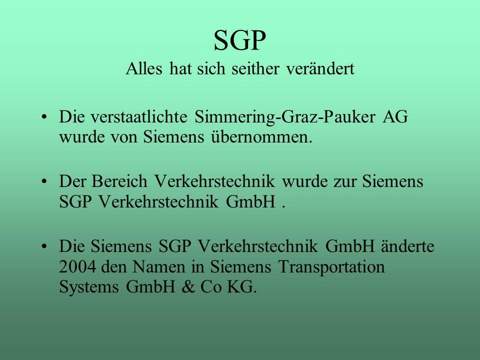 SGP Alles hat sich seither verändert