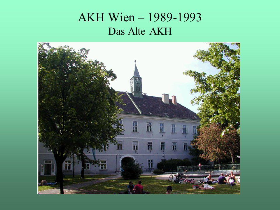 """AKH Wien – 1989-1993 Das Alte AKH 1989-1993 war ich im AKH Wien im Projektteam """"Einführung SAP R/2 ."""