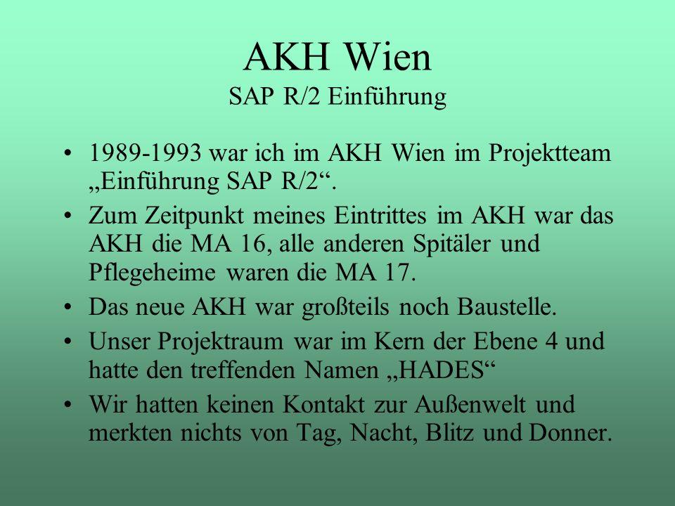 AKH Wien SAP R/2 Einführung