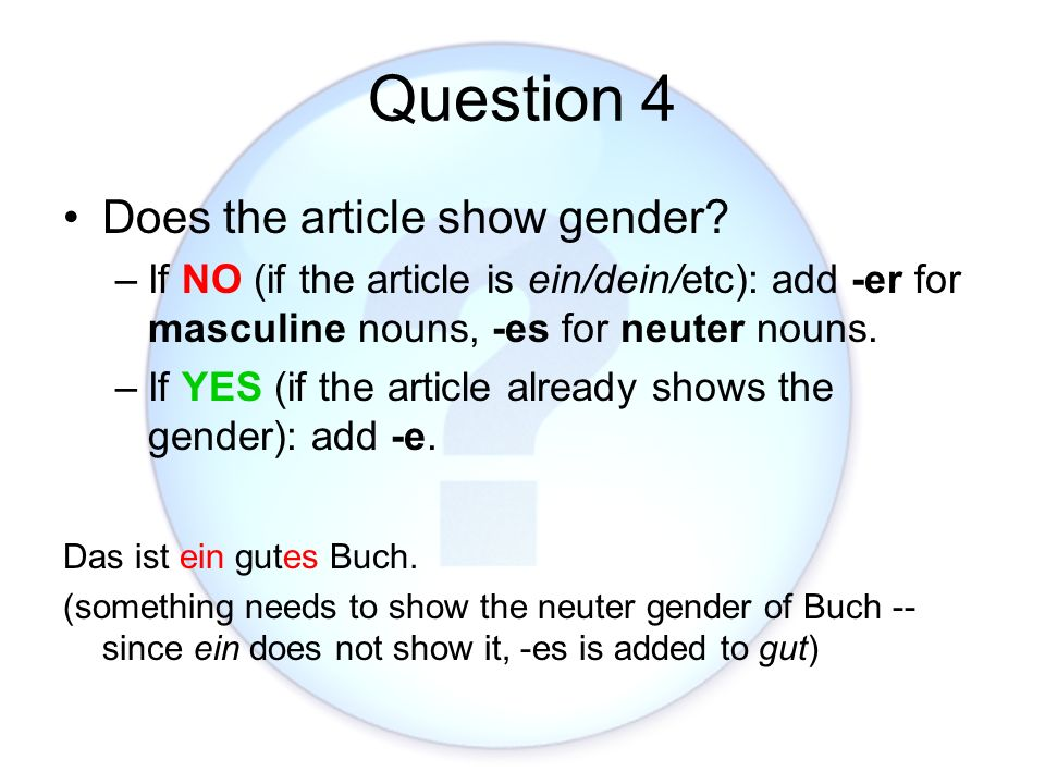 Question 4 Does the article show gender