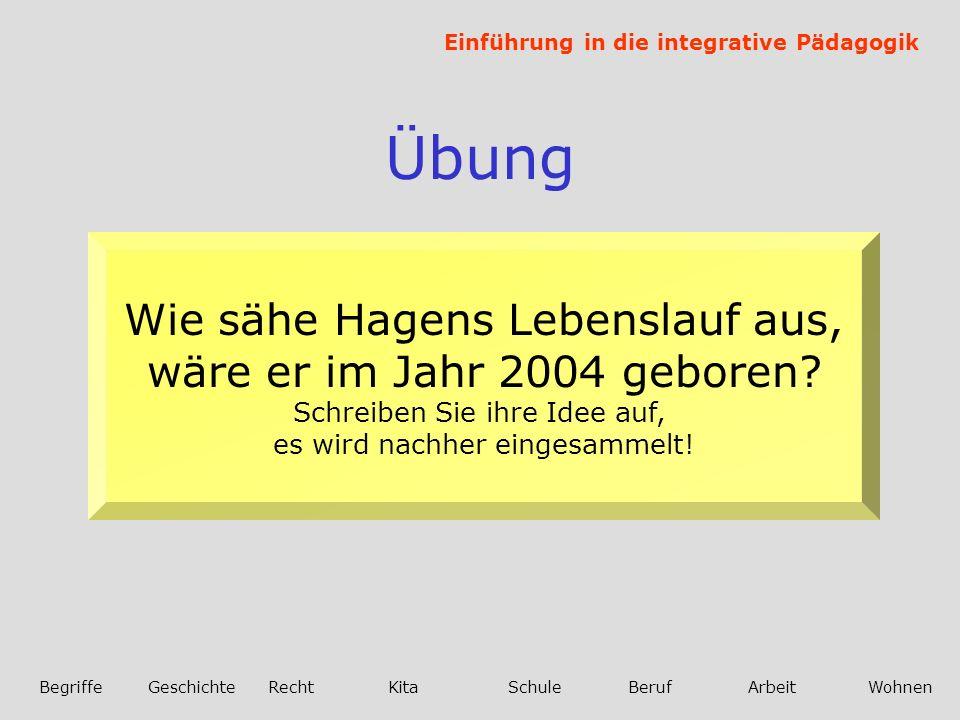 Übung Wie sähe Hagens Lebenslauf aus, wäre er im Jahr 2004 geboren
