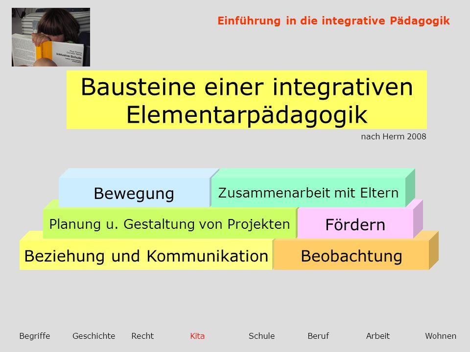 Bausteine einer integrativen Elementarpädagogik