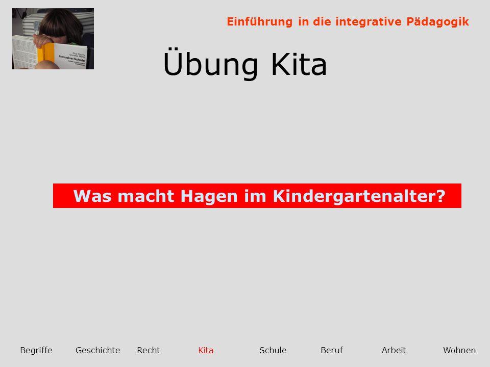 Übung Kita Was macht Hagen im Kindergartenalter