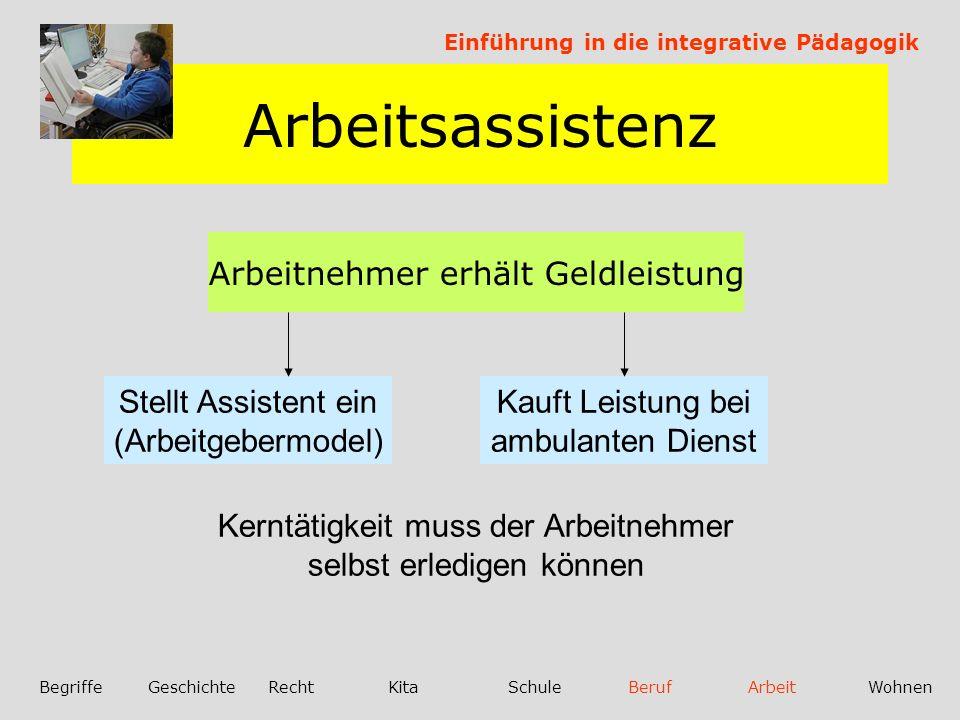 Arbeitsassistenz SGB IX §33(8) und §1028§(4)