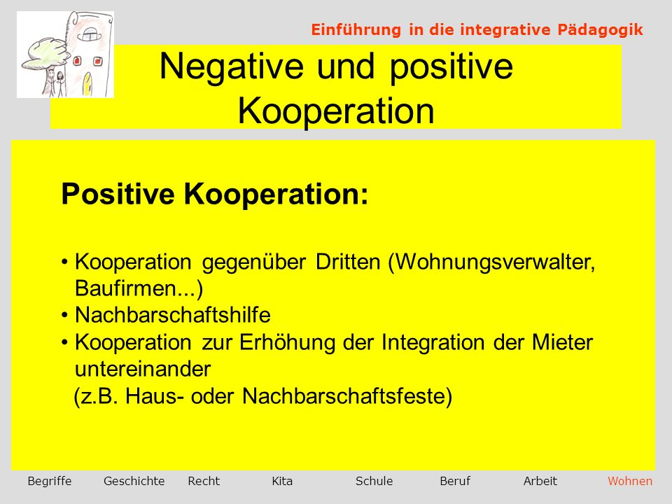 Negative und positive Kooperation