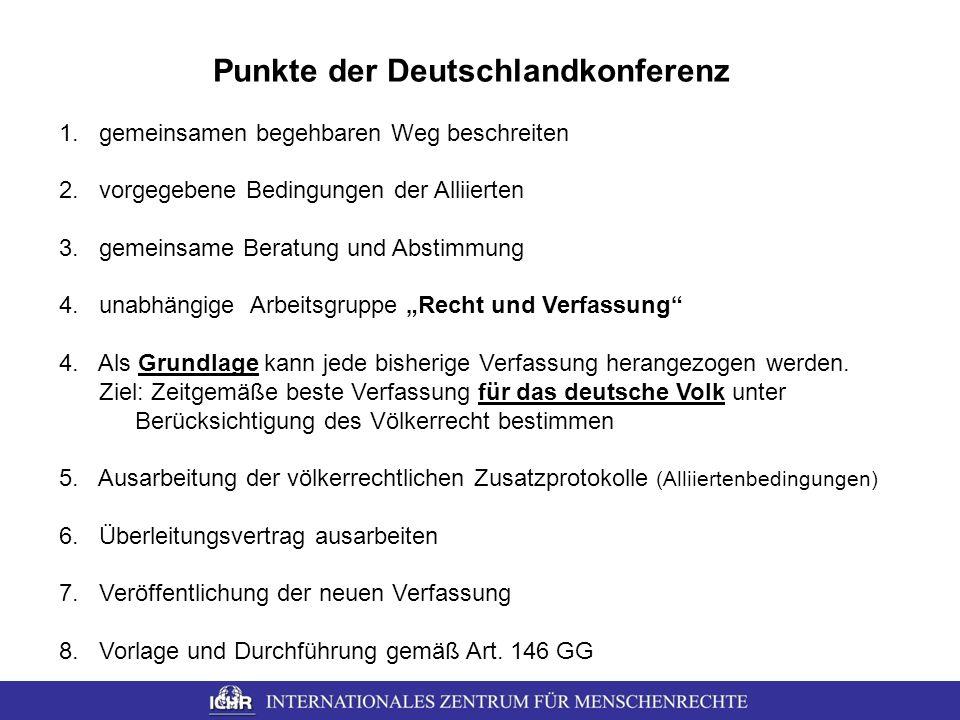 Punkte der Deutschlandkonferenz