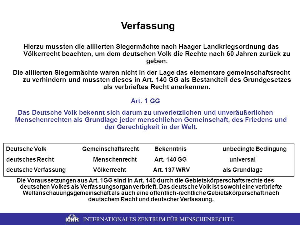 Deutsche Volk Gemeinschaftsrecht Bekenntnis unbedingte Bedingung