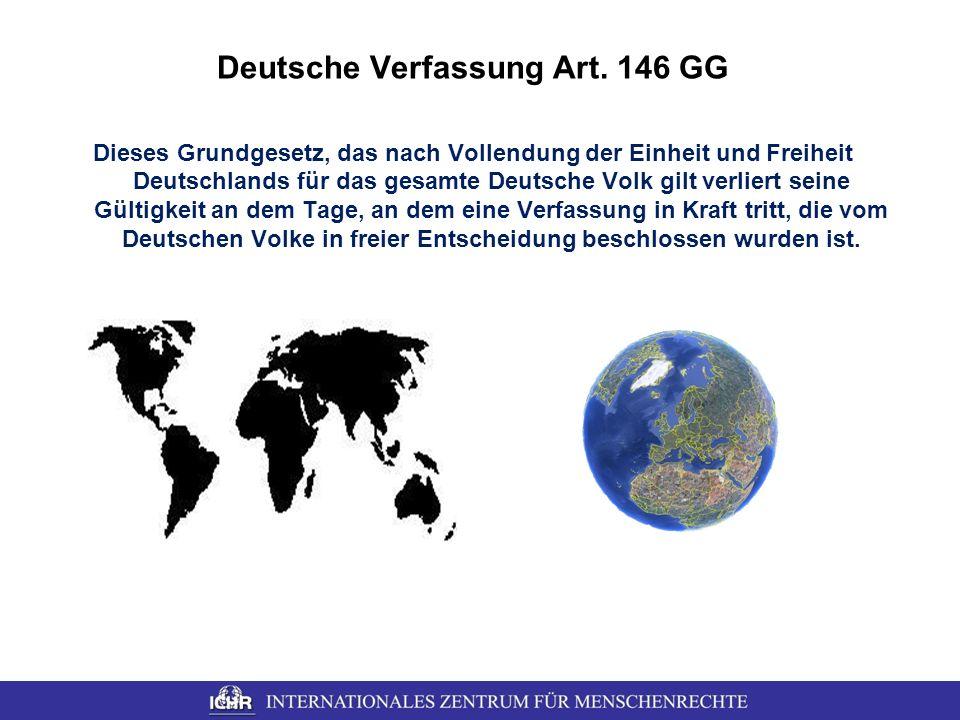 Deutsche Verfassung Art. 146 GG