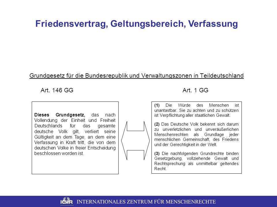Friedensvertrag, Geltungsbereich, Verfassung