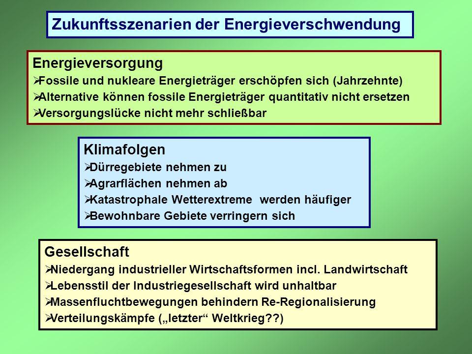 Zukunftsszenarien der Energieverschwendung