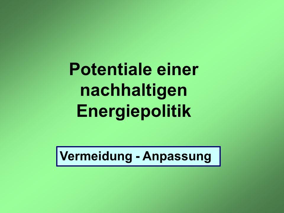 Potentiale einer nachhaltigen Energiepolitik