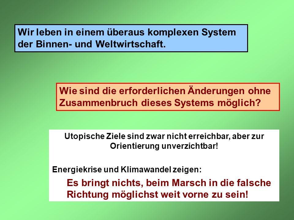 Wir leben in einem überaus komplexen System der Binnen- und Weltwirtschaft.