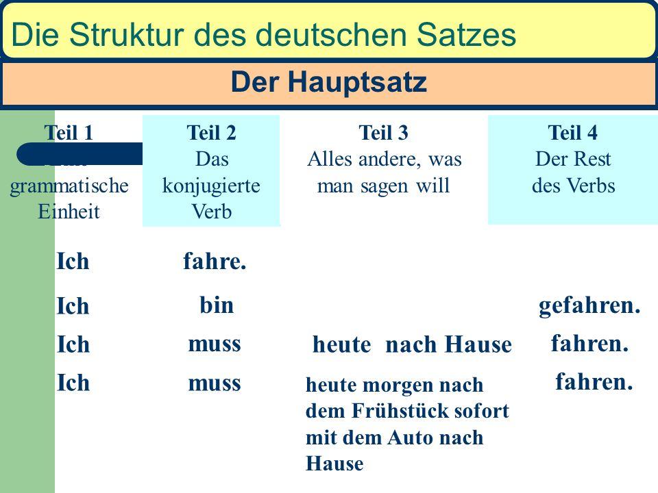 Die Struktur des deutschen Satzes