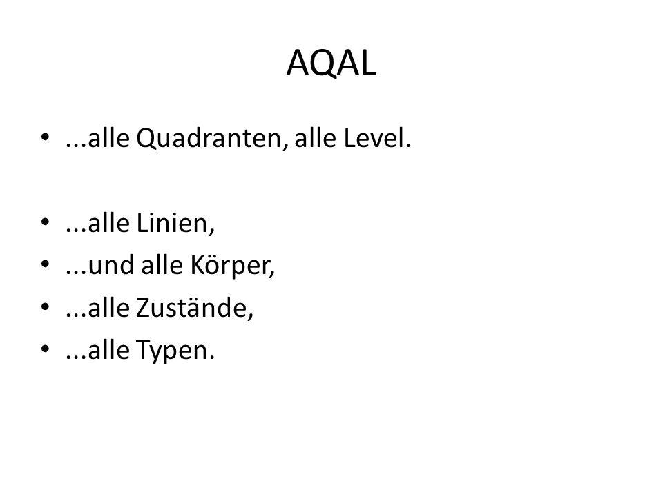 AQAL ...alle Quadranten, alle Level. ...alle Linien,