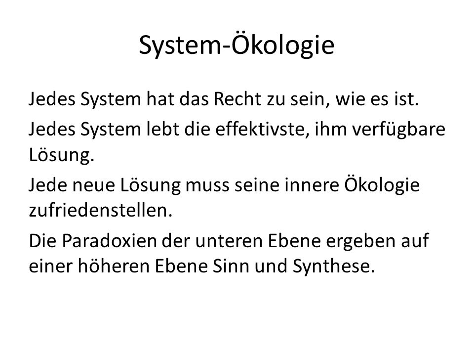 System-Ökologie