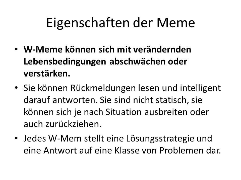 Eigenschaften der Meme