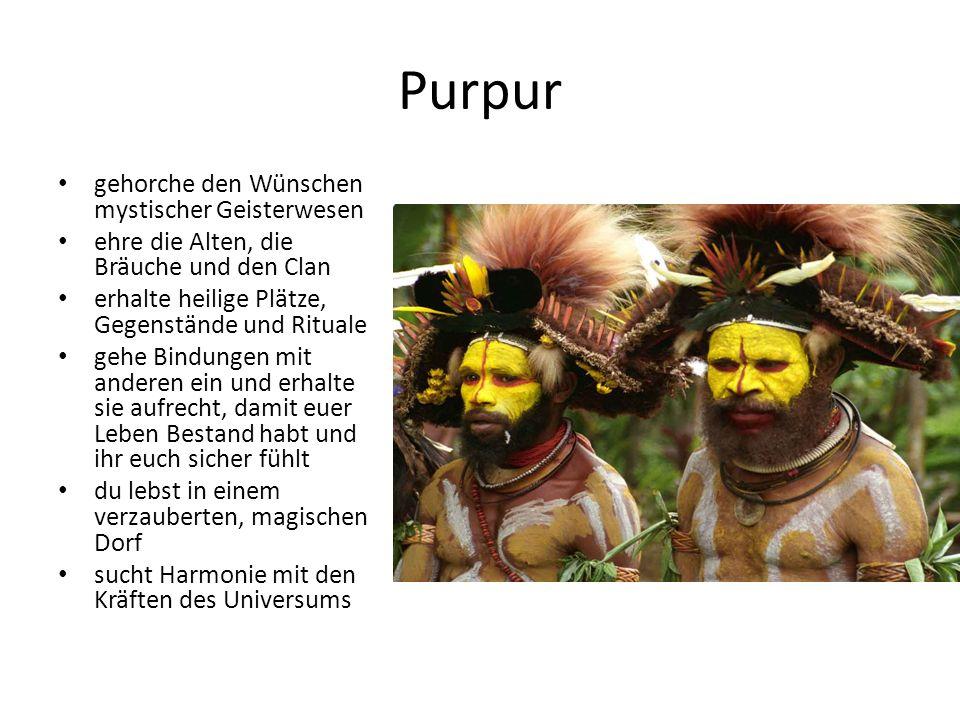 Purpur gehorche den Wünschen mystischer Geisterwesen