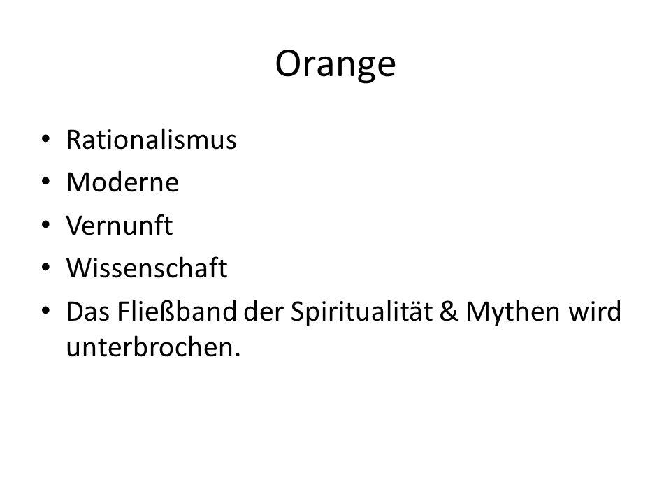 Orange Rationalismus Moderne Vernunft Wissenschaft