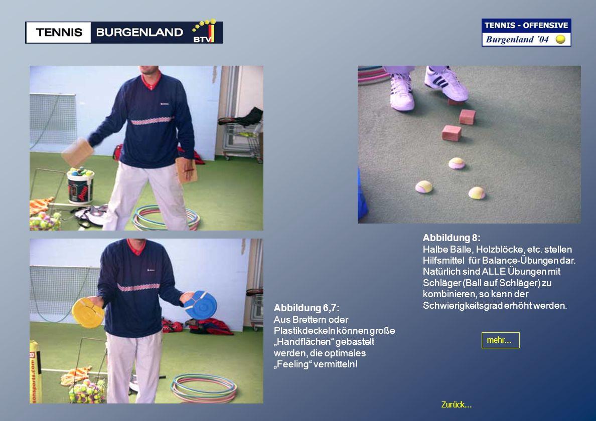 Abbildung 8: Halbe Bälle, Holzblöcke, etc. stellen Hilfsmittel für Balance-Übungen dar.