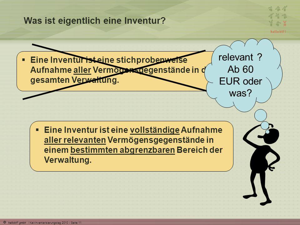 relevant Ab 60 EUR oder was Was ist eigentlich eine Inventur