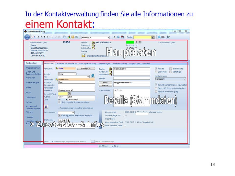 > Zusatzdaten & Infos