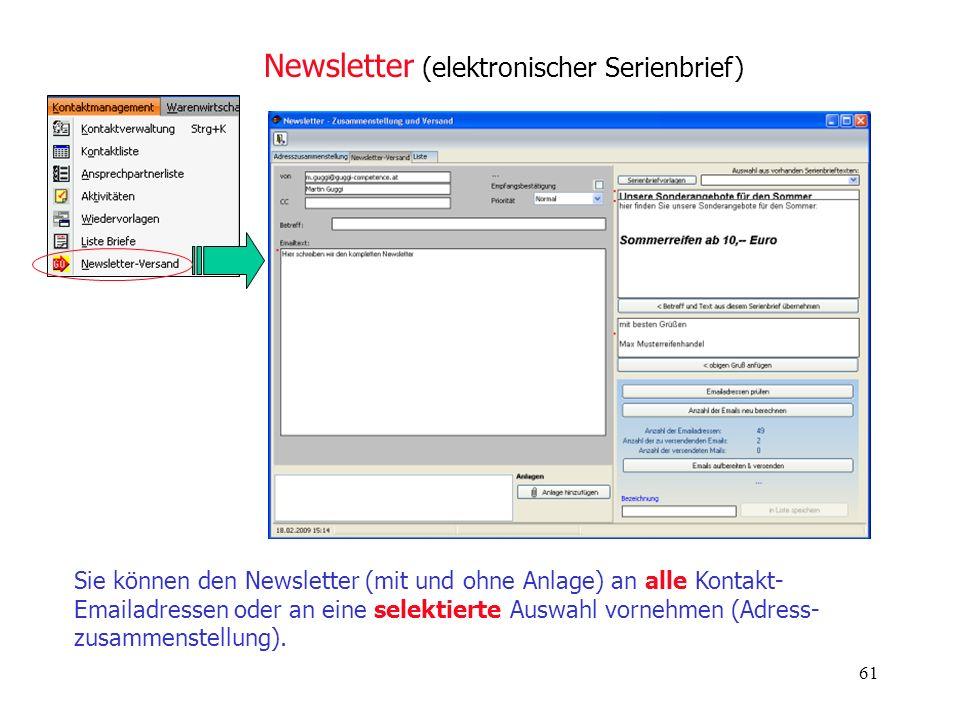 Newsletter (elektronischer Serienbrief)