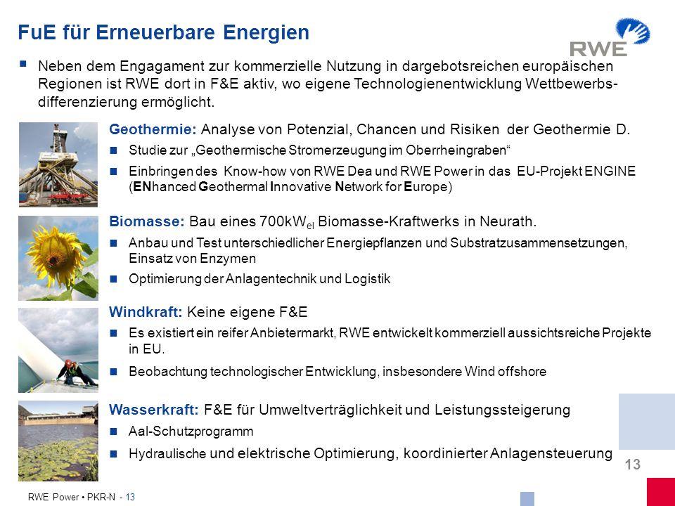 FuE für Erneuerbare Energien