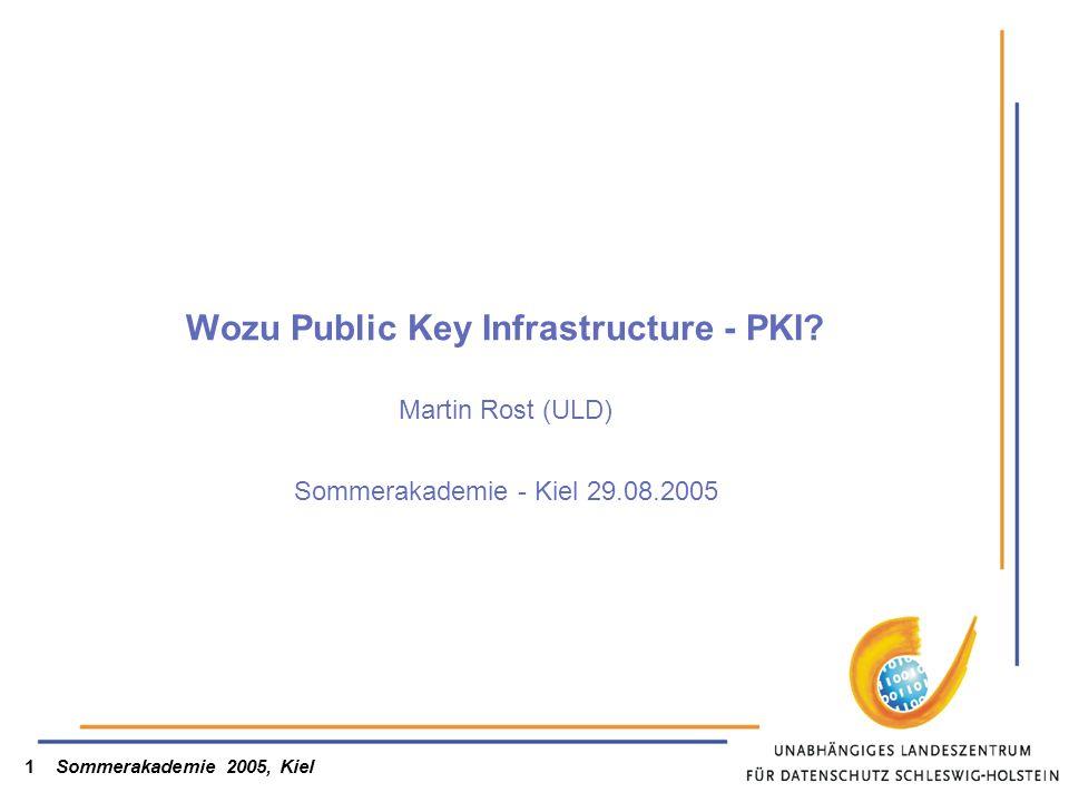 Wozu Public Key Infrastructure - PKI