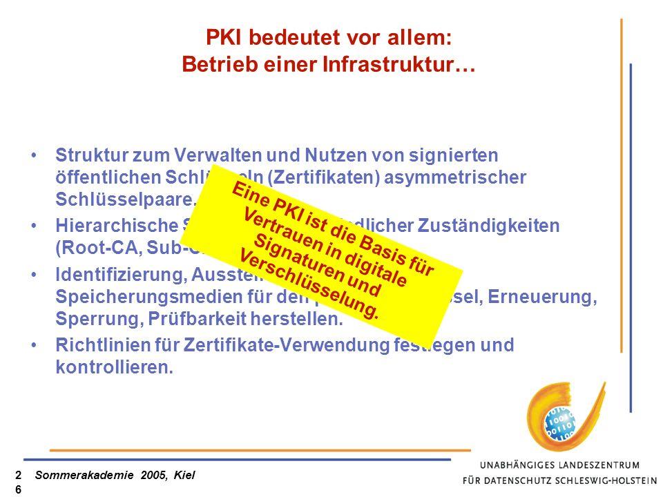PKI bedeutet vor allem: Betrieb einer Infrastruktur…