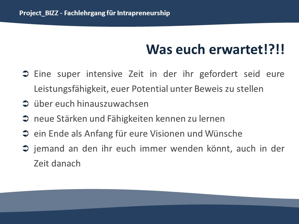 Project_BIZZ - Fachlehrgang für Intrapreneurship