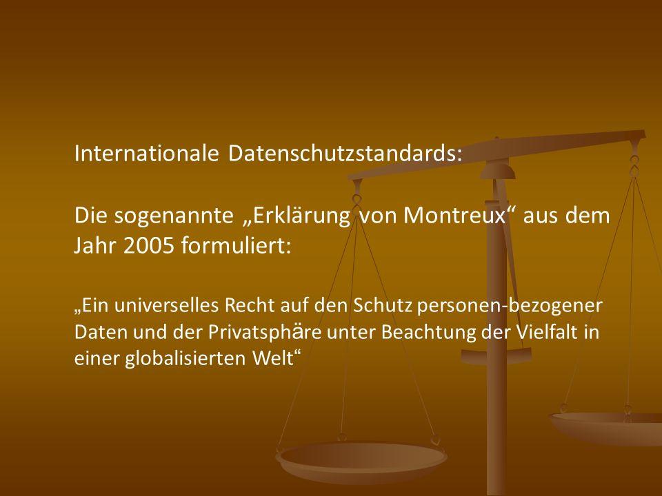 Internationale Datenschutzstandards: