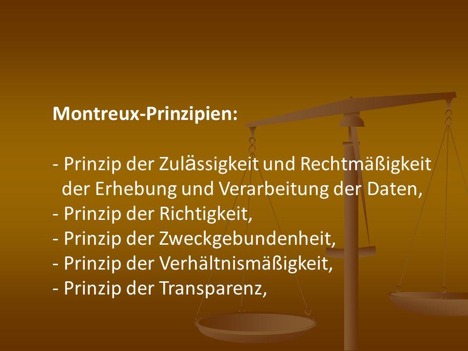 Montreux-Prinzipien: Prinzip der Zulässigkeit und Rechtmäßigkeit