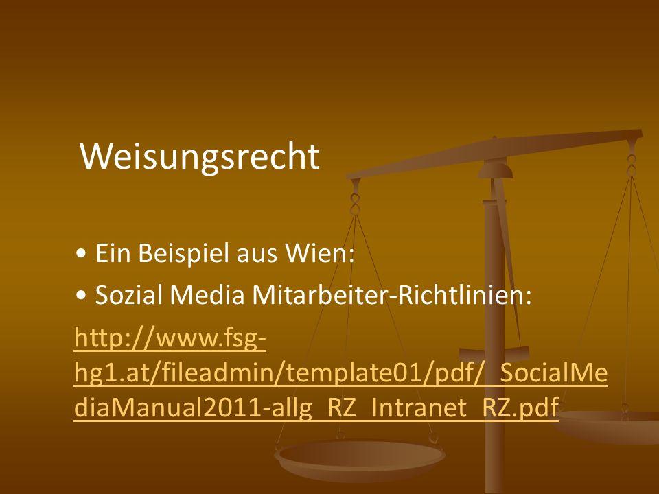 Sozial Media Mitarbeiter-Richtlinien: