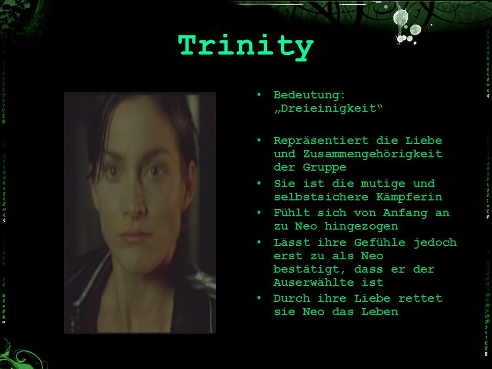 """Trinity Bedeutung: """"Dreieinigkeit"""