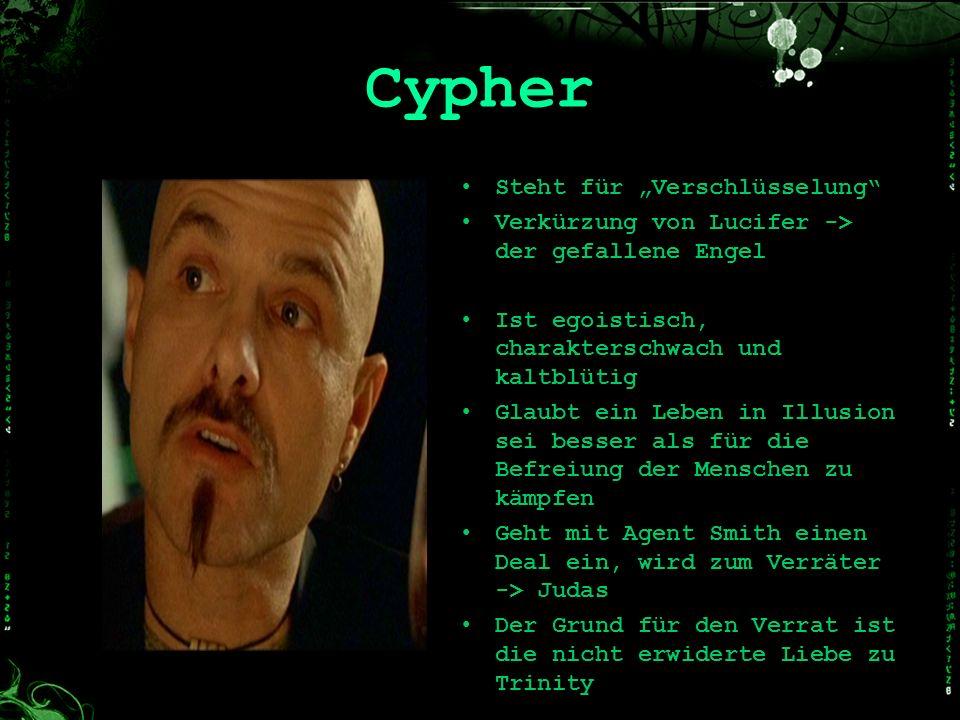 """Cypher Steht für """"Verschlüsselung"""