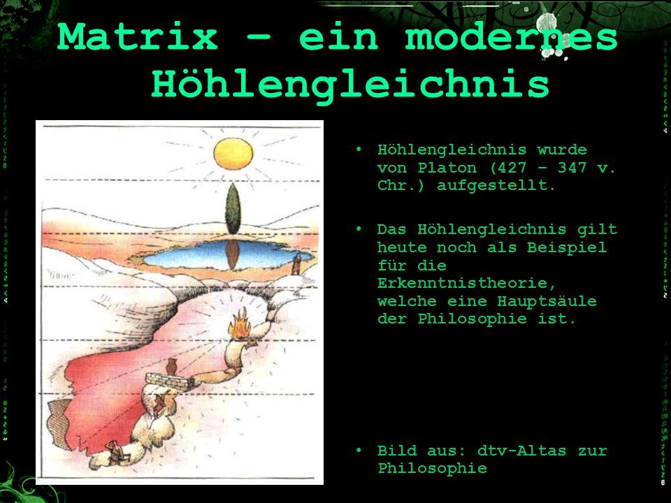 Matrix – ein modernes Höhlengleichnis