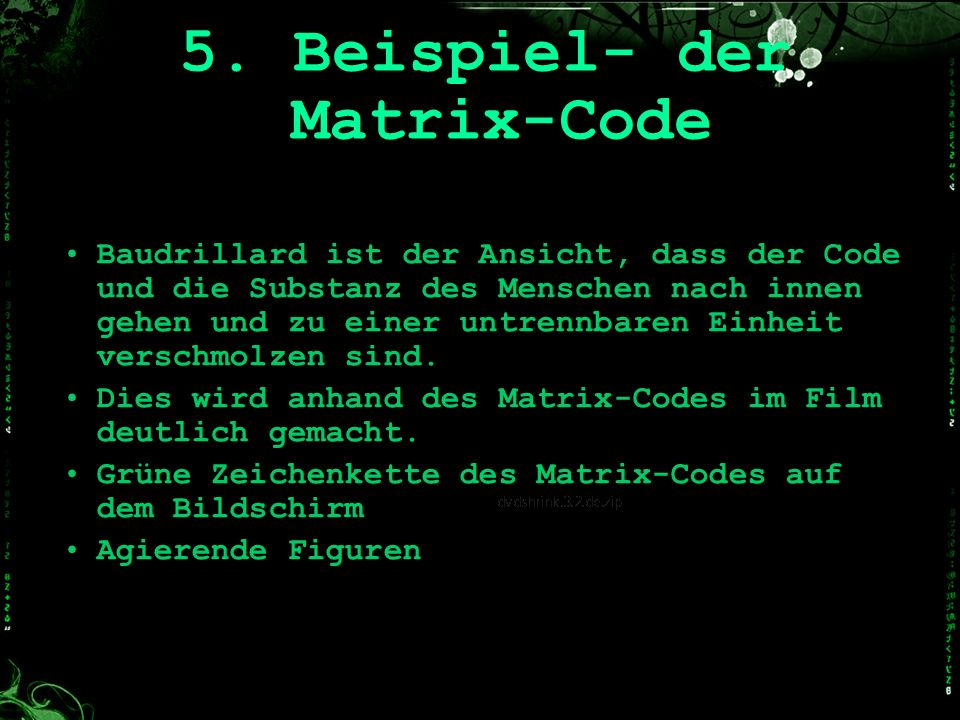 5. Beispiel- der Matrix-Code