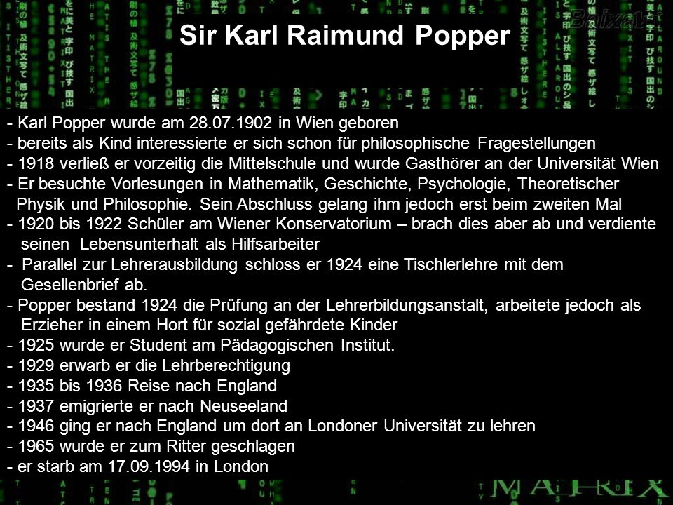 Sir Karl Raimund Popper