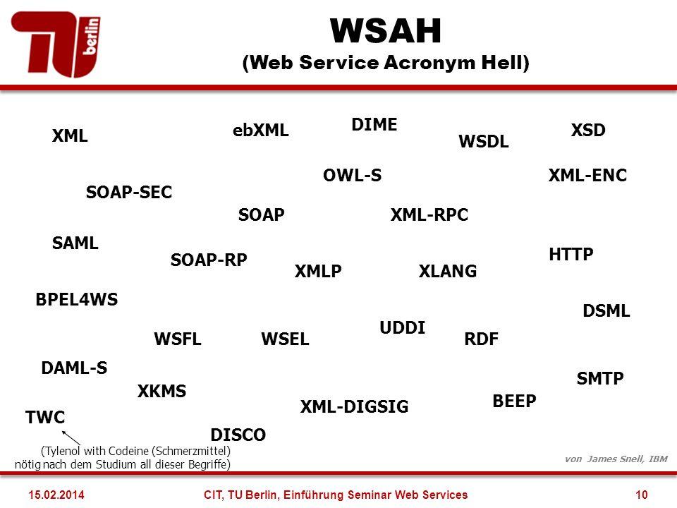 WSAH (Web Service Acronym Hell)