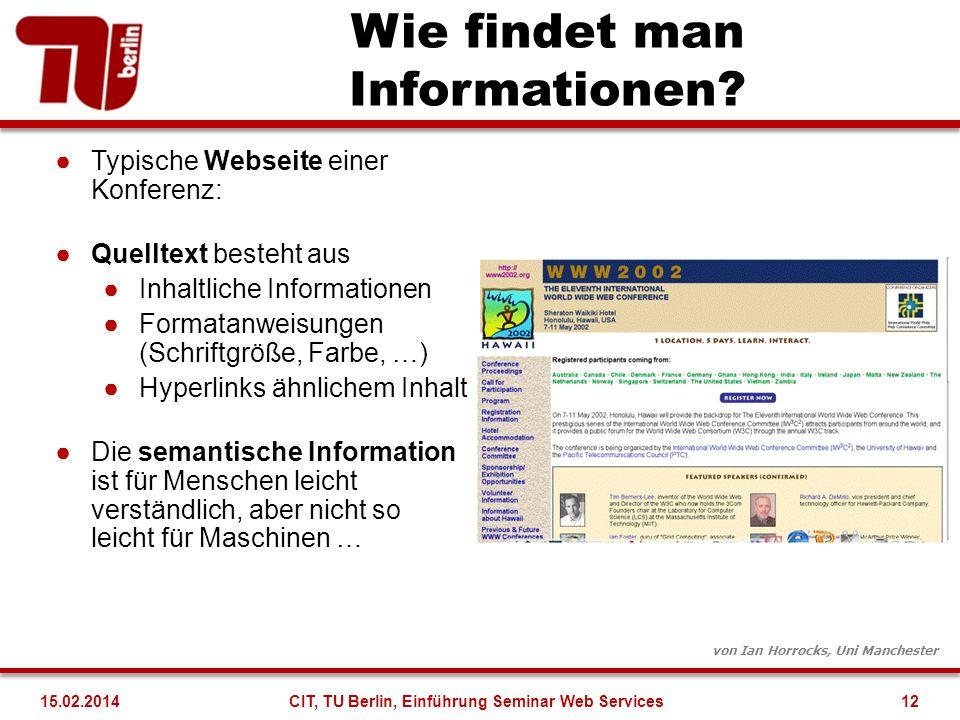 Wie findet man Informationen