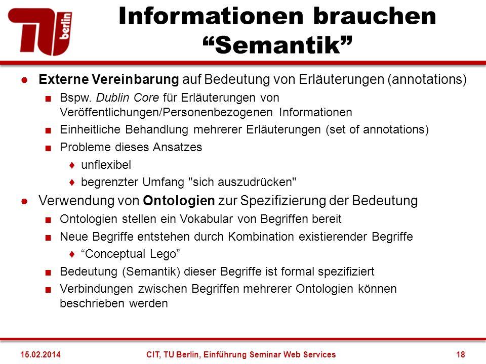 Informationen brauchen Semantik